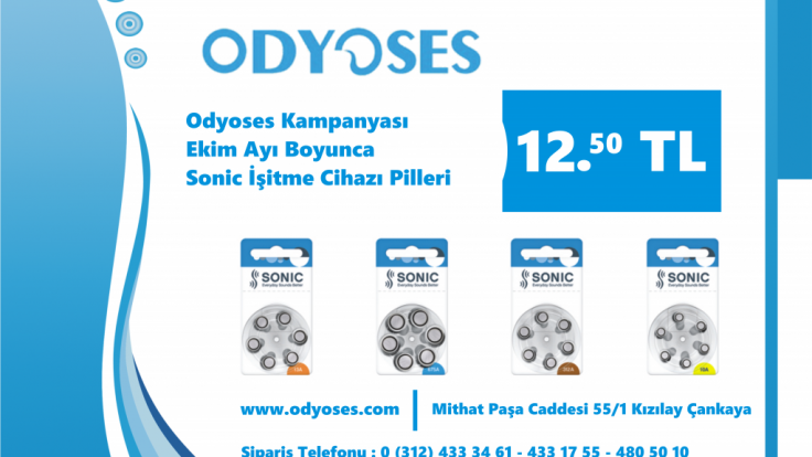 Odyoses' de Pil Sadece 12.50TL